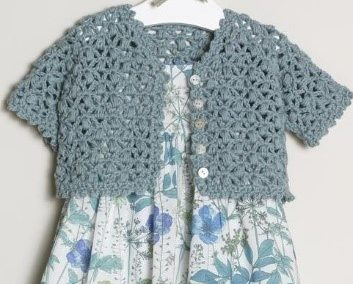 "Baby/Toddler Cardigan – ""Crumpet"" pattern by Erika Knight"